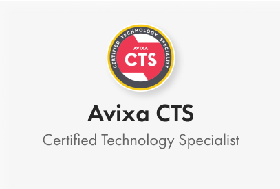 Avixa CTS. Certified Technology Specialist